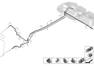 Σωλήνες καυσίμου/εξαρτήματα στερέωσης