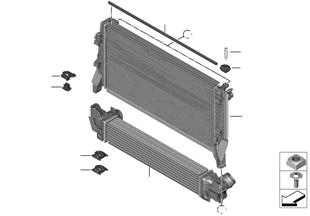 Εξαρτήμ.στερέωσης ψυγείου ψυκτικ.υγρού