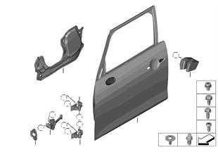 Tür vorn - Scharnier/Türbremse