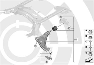 Kits reparación brazo oscil. transvers.