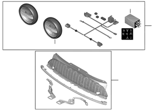 Retrofit kit LED auxiliary driving lamps