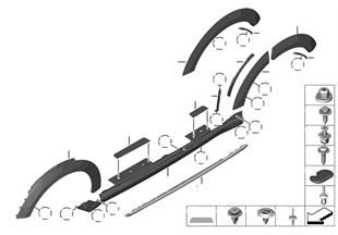 Накладка порог / арка колеса