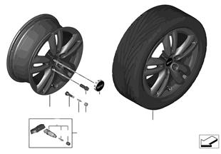 "Mini LM Rad Track Spoke 501 - 17"""