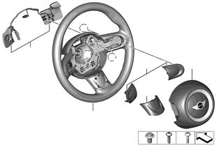 Sportlenkrad Airbag mit Schaltwippen