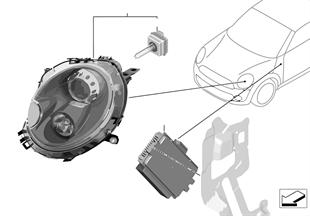 Retrofit kit for 25 W xenon headlight