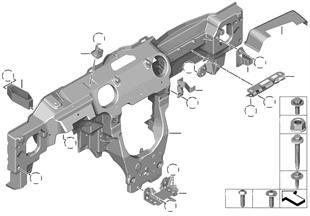 Draagbalk instrument paneel