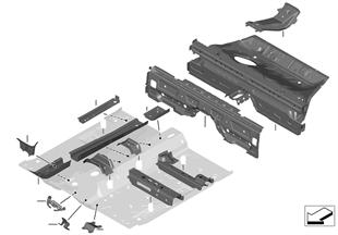 Trennwand Gepäckraum/Bodenteile