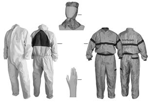 Vestuário protecção p/ trab. pintura