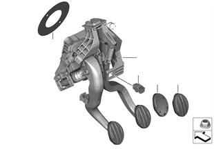 Pedal assembly, manual transmission